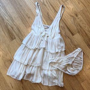Victoria's Secret ruffle tier cami lingerie,  S/P